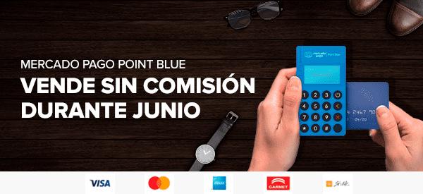 Cashback de comisión en Point Blue de Mercadopago en los primeros $7,000 cobrados
