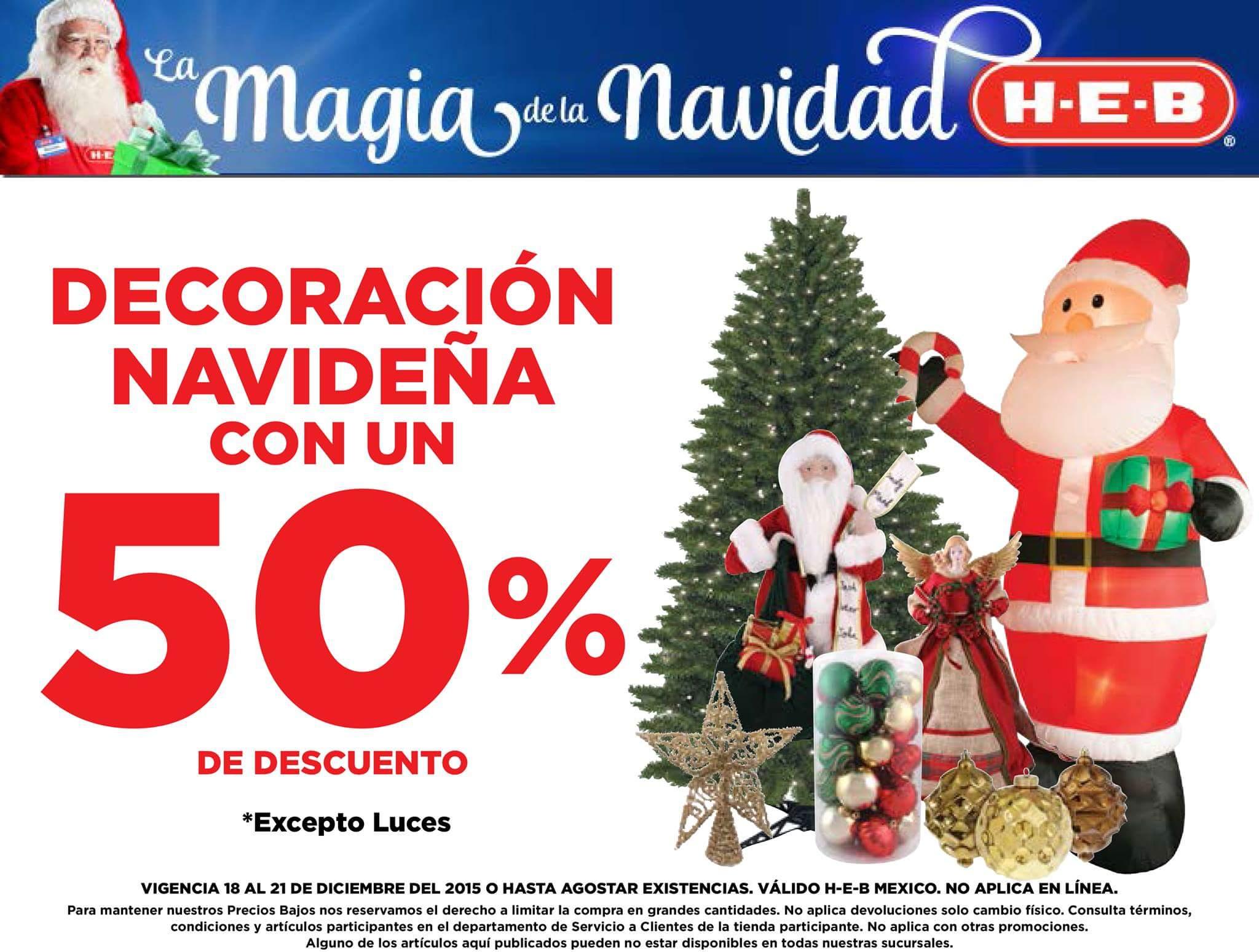 HEB: 3x2 en cosméticos, 50% de descuento en decoración navideña y mas