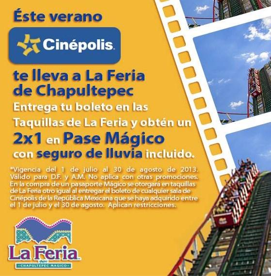 La Feria de Chapultepec: 2x1 en pasaporte mágico con boleto Cinépolis y más