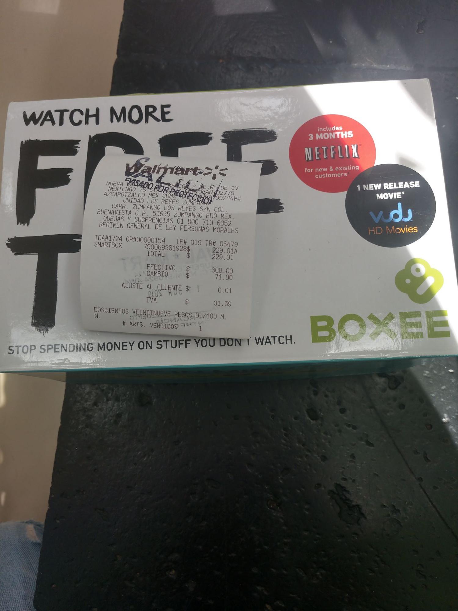 Walmart: Boxee 229.01 con 3 meses de netflix