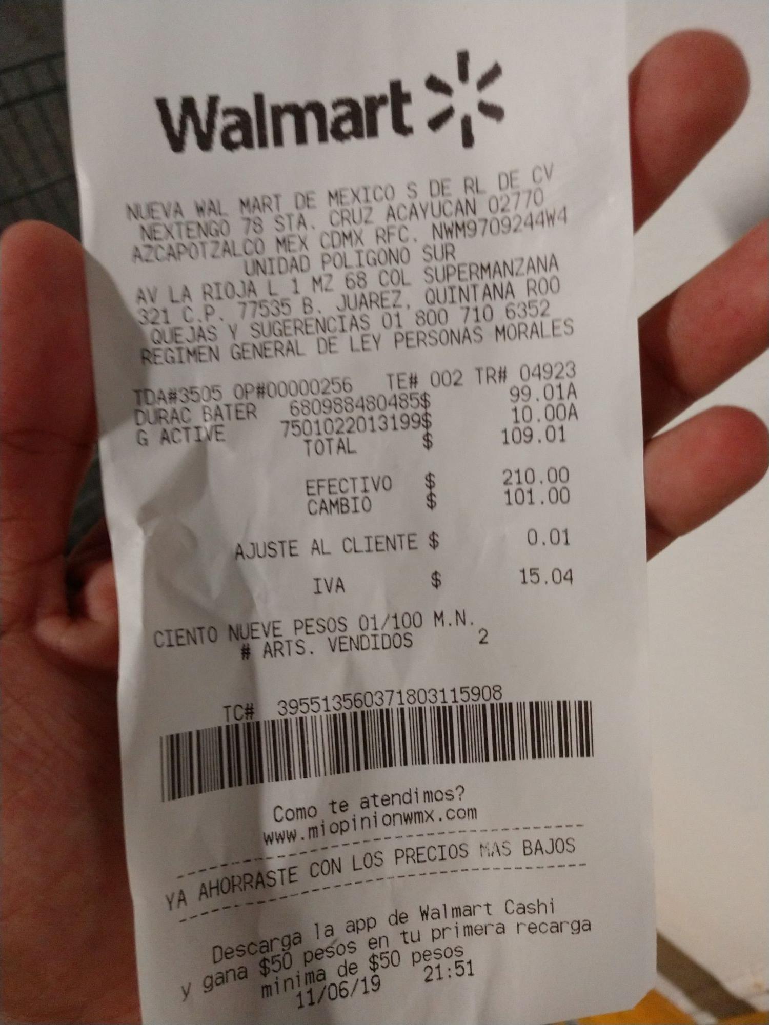 Walmart: Bateria Portátil Duracell
