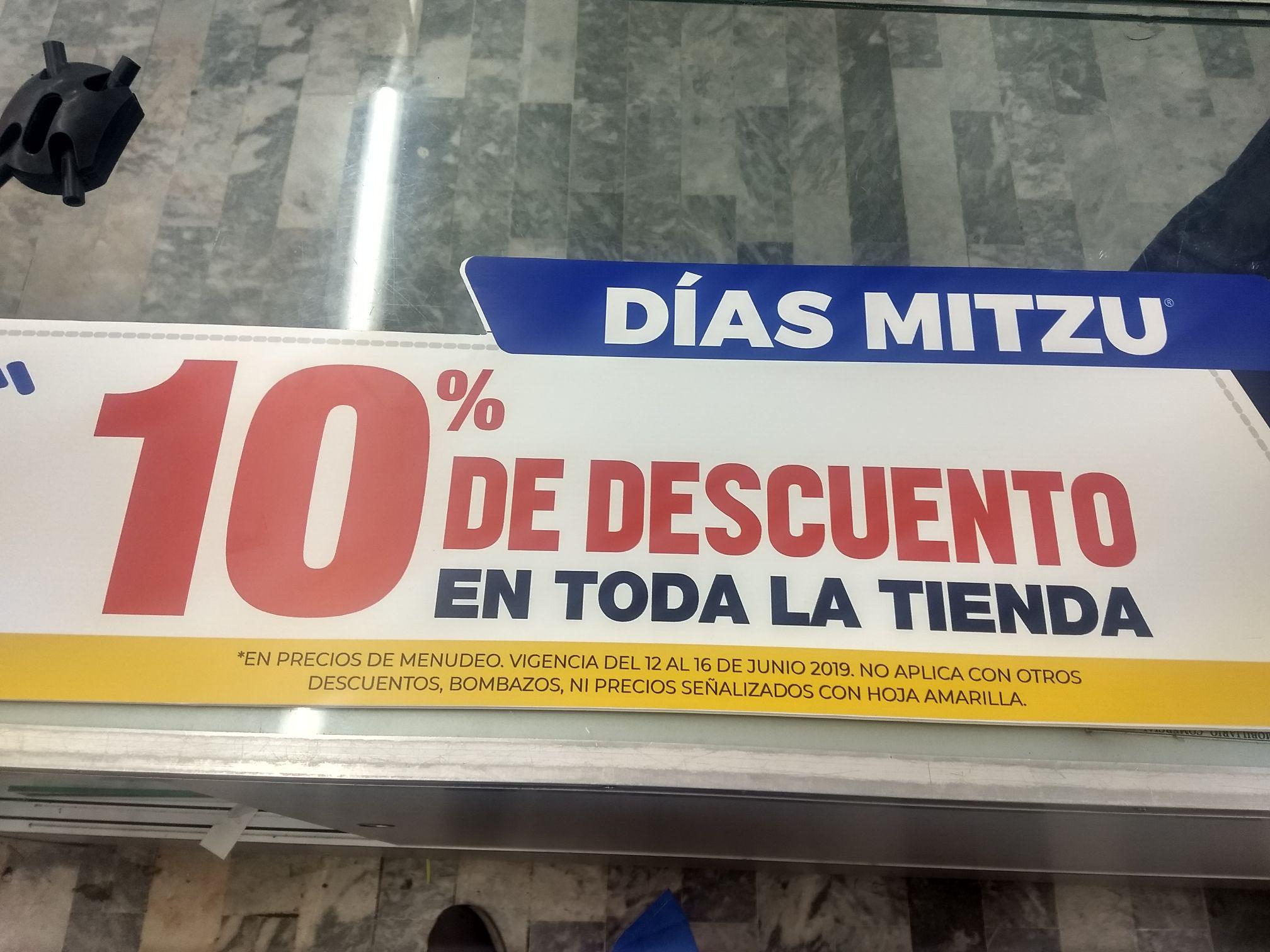mitzu: 10% de descuento en mercancía por menudeo