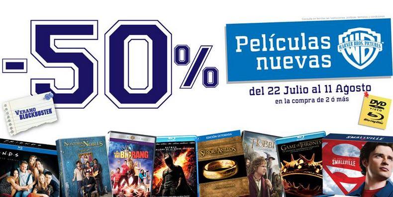 Blockbuster: 50% de descuento en películas Warner y 2x1 en 20th Century Fox