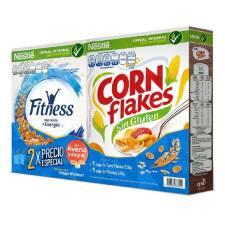 Superama, Col. Condesa CDMX.. Duo pack:Corn Flakes y Fitness