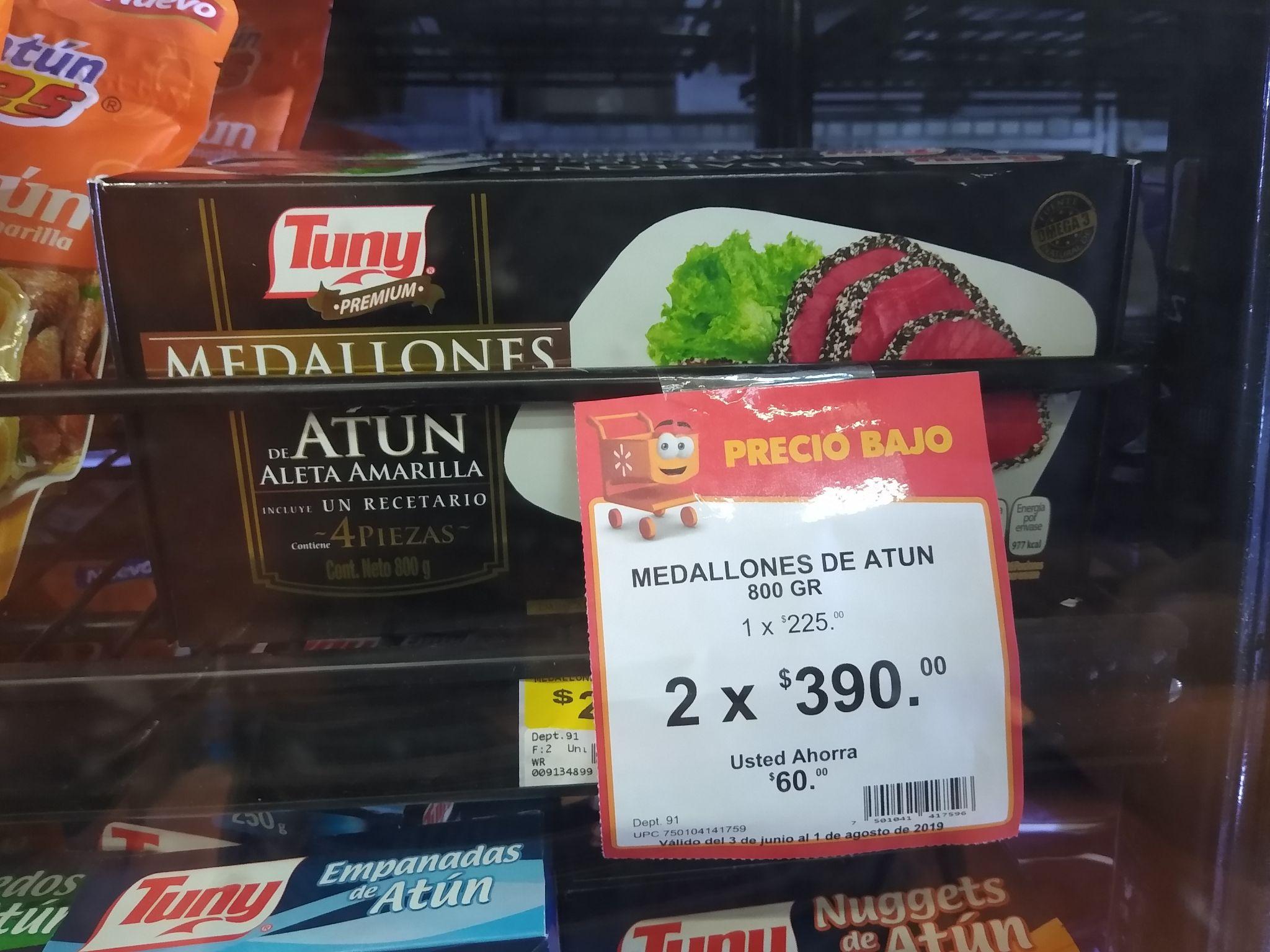 Walmart: Medallón de atún tuny 2x$390)