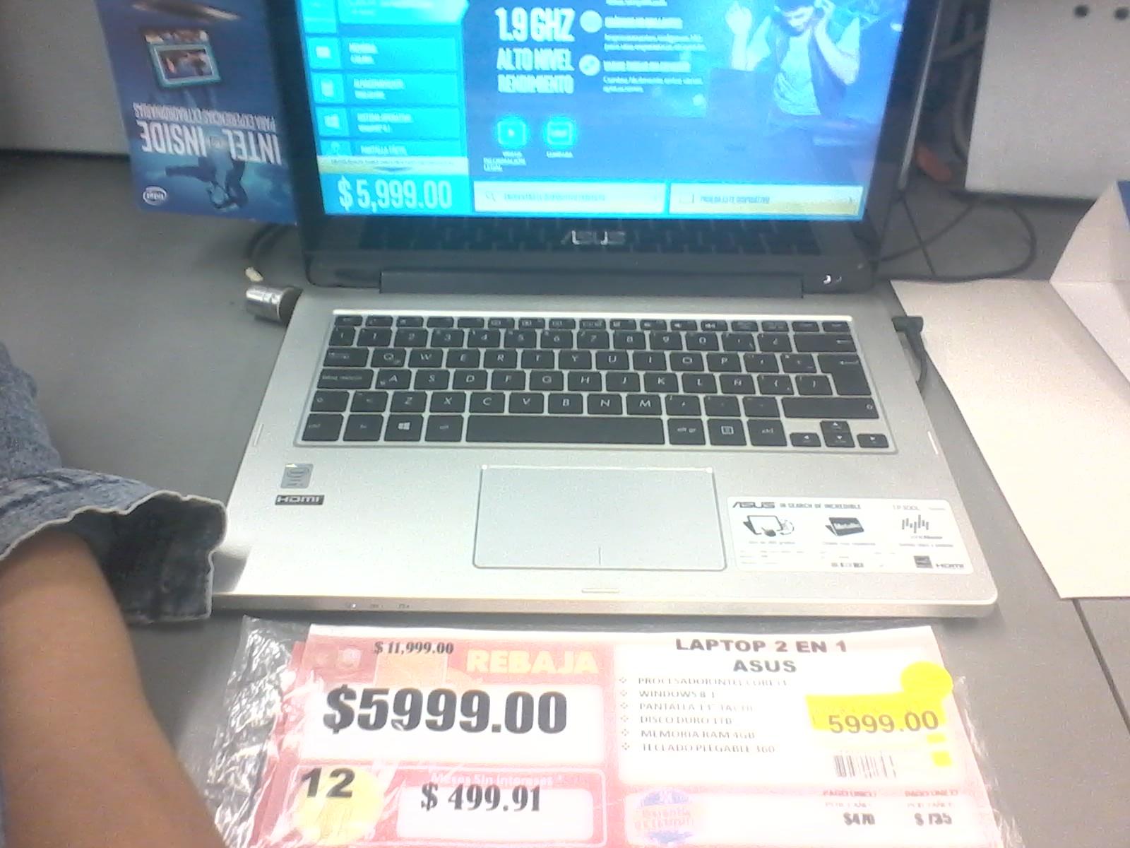Walmart Zona Norte: ASUS Transformer Book Flip A mitad de Precio