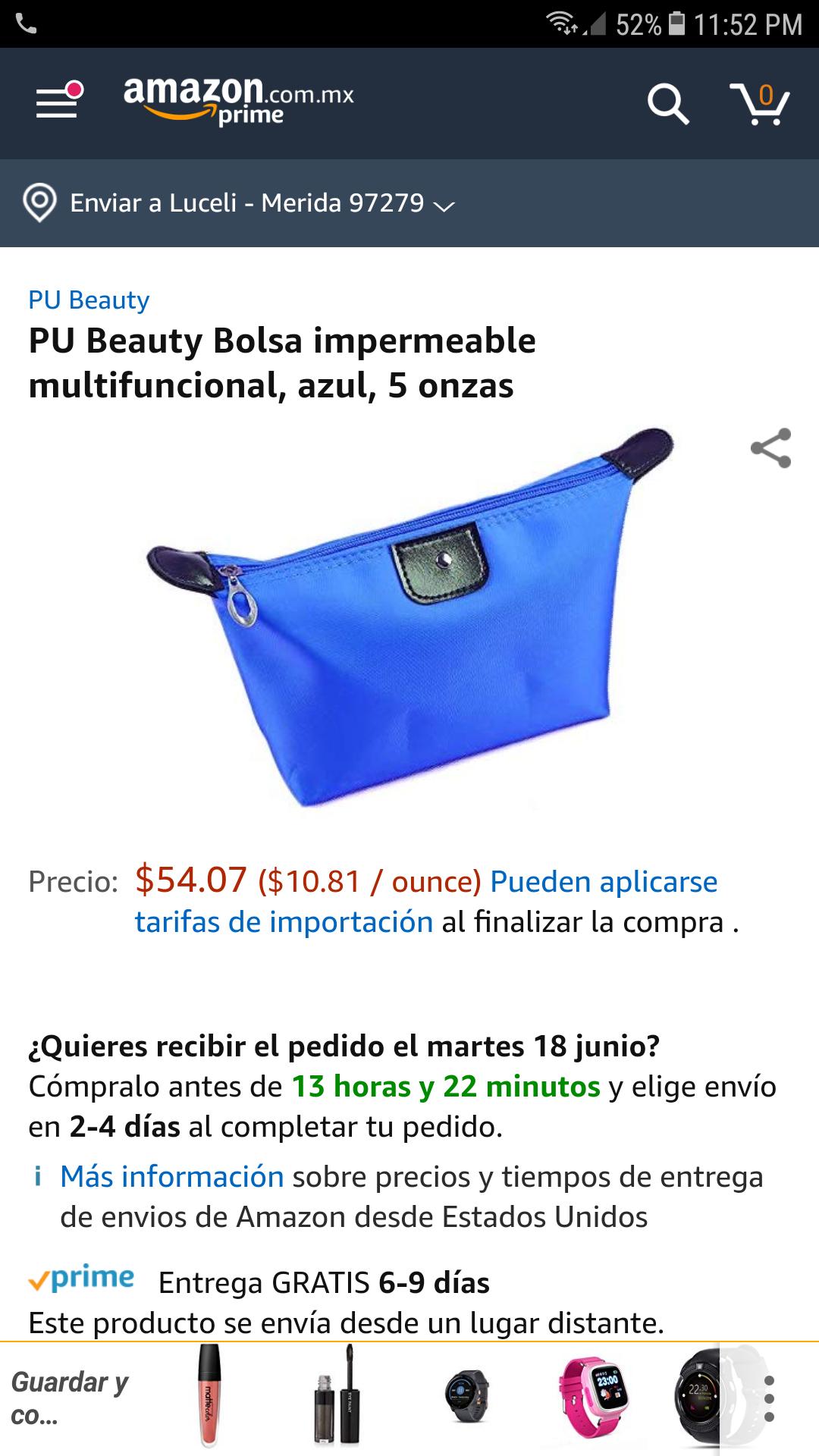 Amazon: cosmetiquera