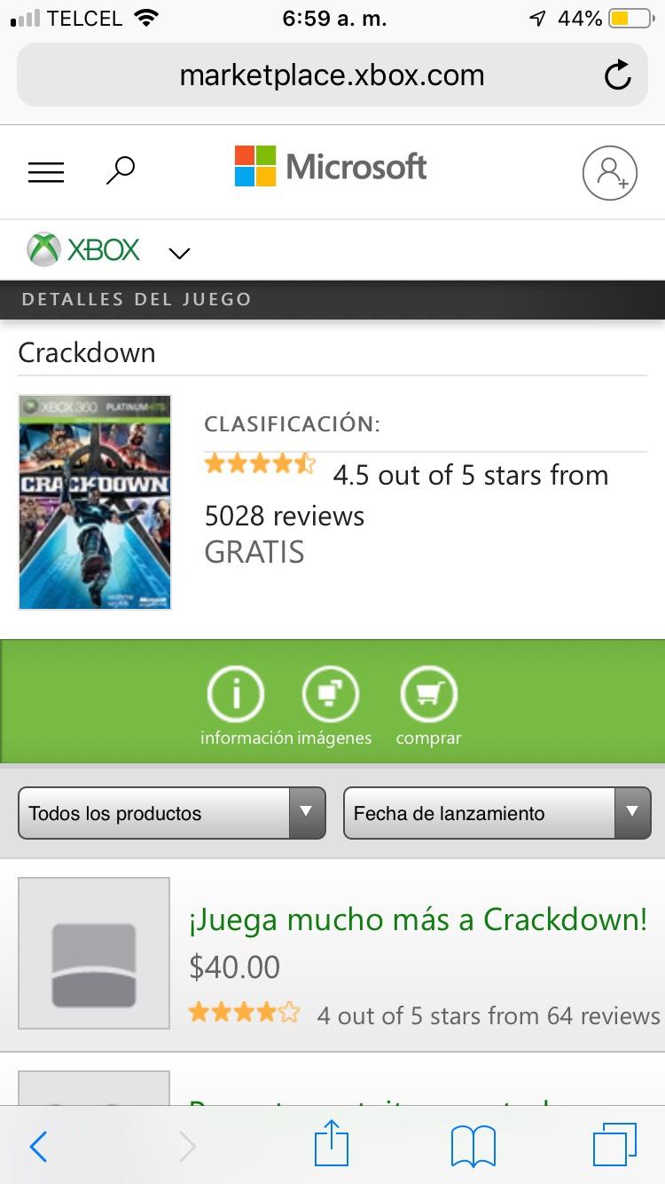 Xbox Crackdown 1 GRATIS para XBOX 360