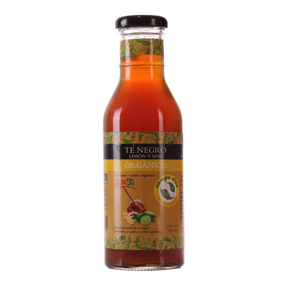 Superama. Té negro con jengibre, miel y limón, orgánico.350 ml.