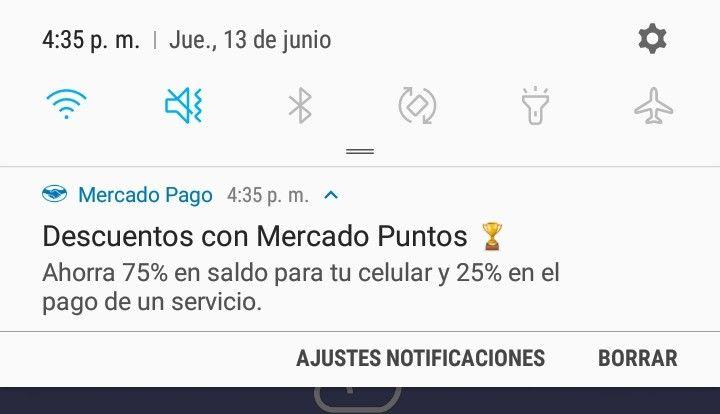 Mercadopago: 75% en recargas y 25% en servicios (usuarios seleccionados)