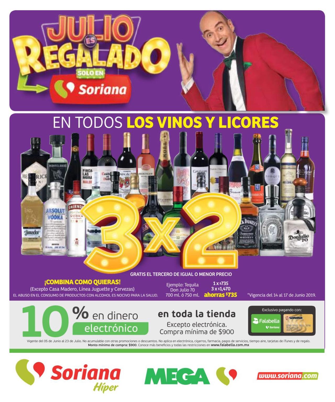 Julio Regalado 2019 en Soriana: 2do Folleto de Soriana Híper y Mega del 14 al 20 de Junio 2019 (Toda la república)