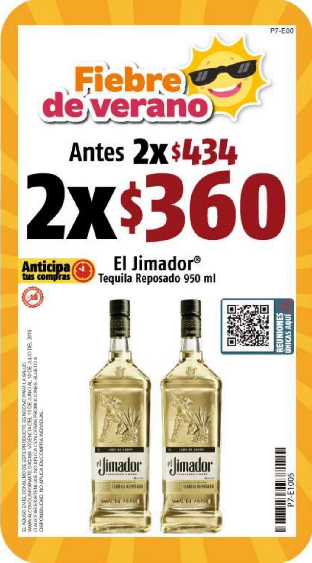 "OXXO: 2 Tequila ""El Jimador"" x $360"
