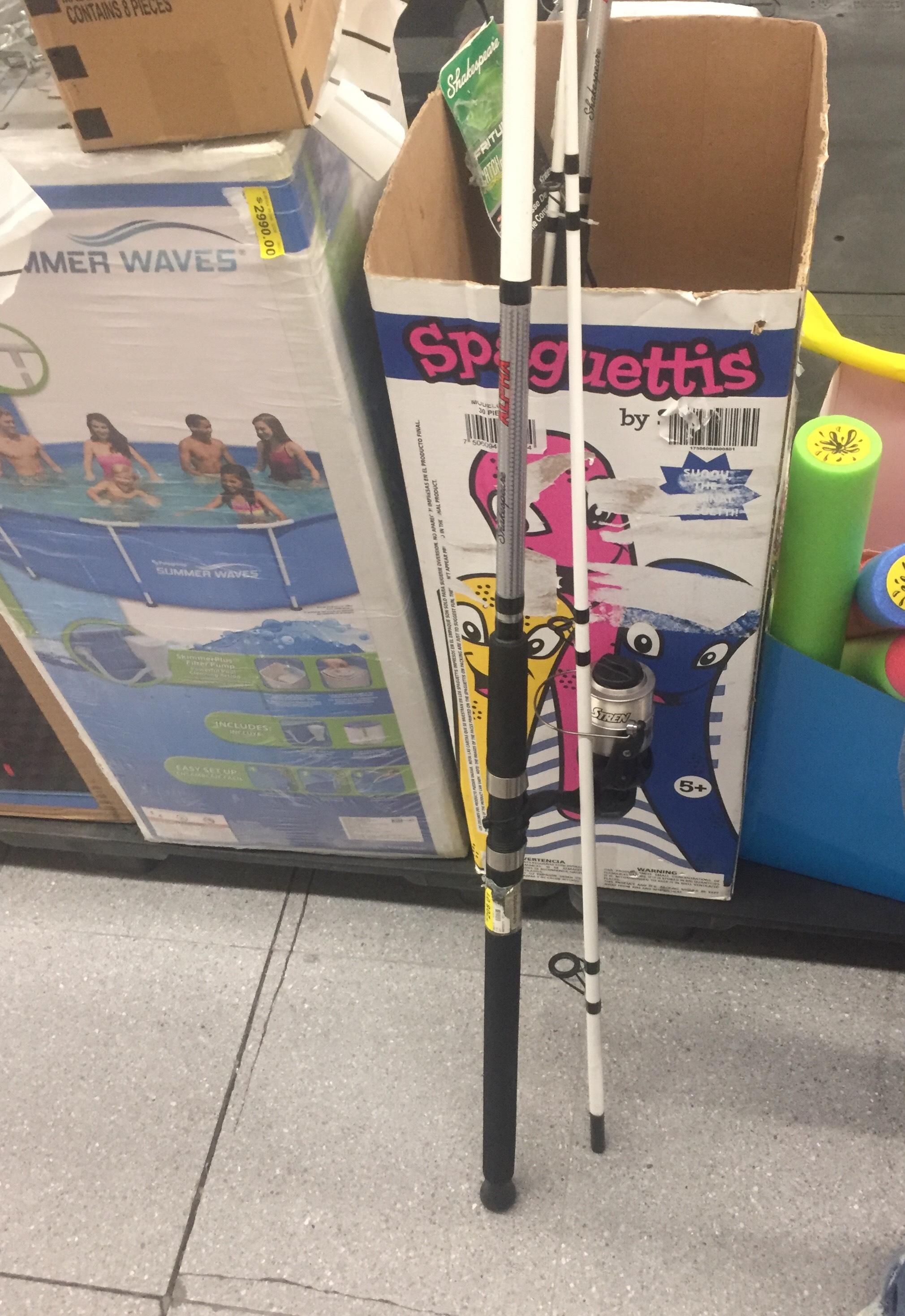 Walmart patio san Ángel: caña para pescar
