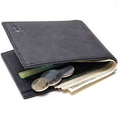 Ebay: Billetera de cuero Slim para hombre en $6