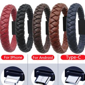 EBay: Pulsera de cuero/cable usb