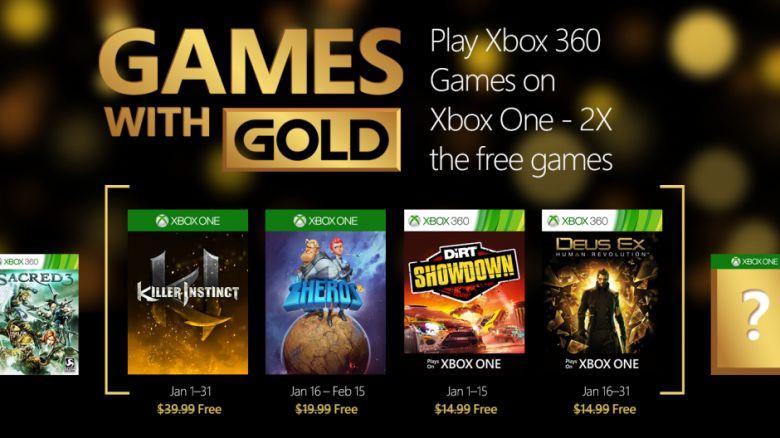 Xbox Games with gold Enero 2016 (juegos gratis Xbox 360 y Xbox One)