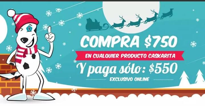 Tienda Caskarita.com: $200 de descuento en compras de $750