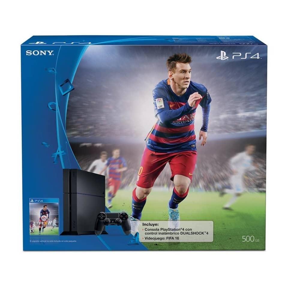 Walmart: Consola PlayStation 4 500 GB más FIFA 16
