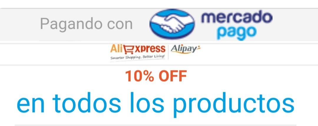 Aliexpress: 10% de descuento pagando con Mercado Pago (topado a $100)
