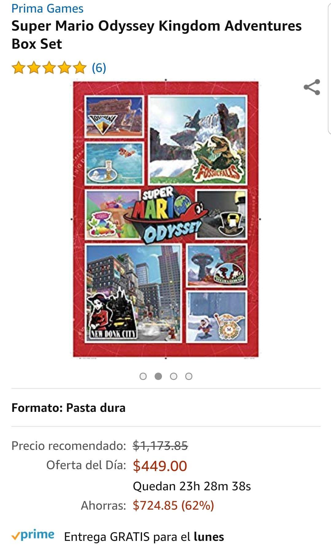 Amazon: Super Mario Odyssey Kingdom Adventures Box Set