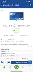 "Sam's Club: Smart TV LG OLED 55"" B7 4K UHD"