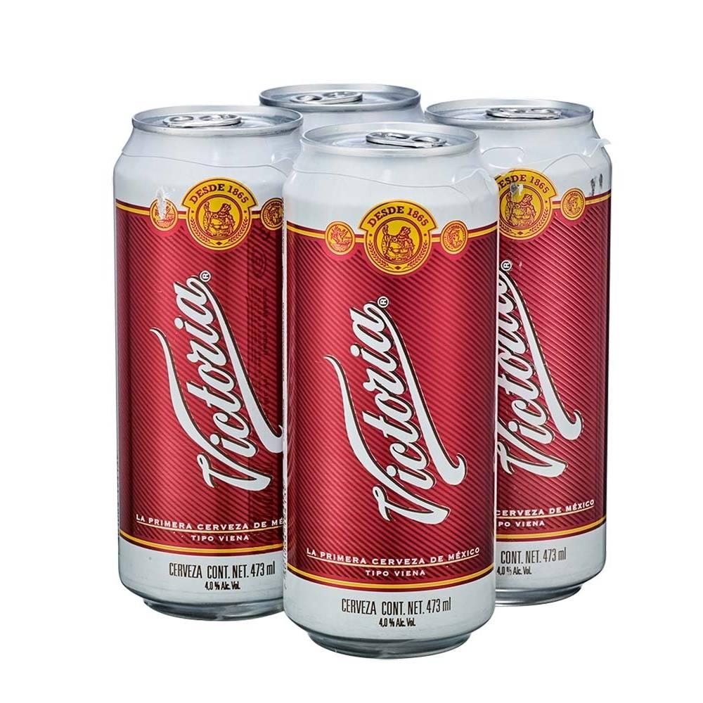 Walmart: Pack de 4 Latas Cerveza Oscura Victoria de 473 ml a 3x$160
