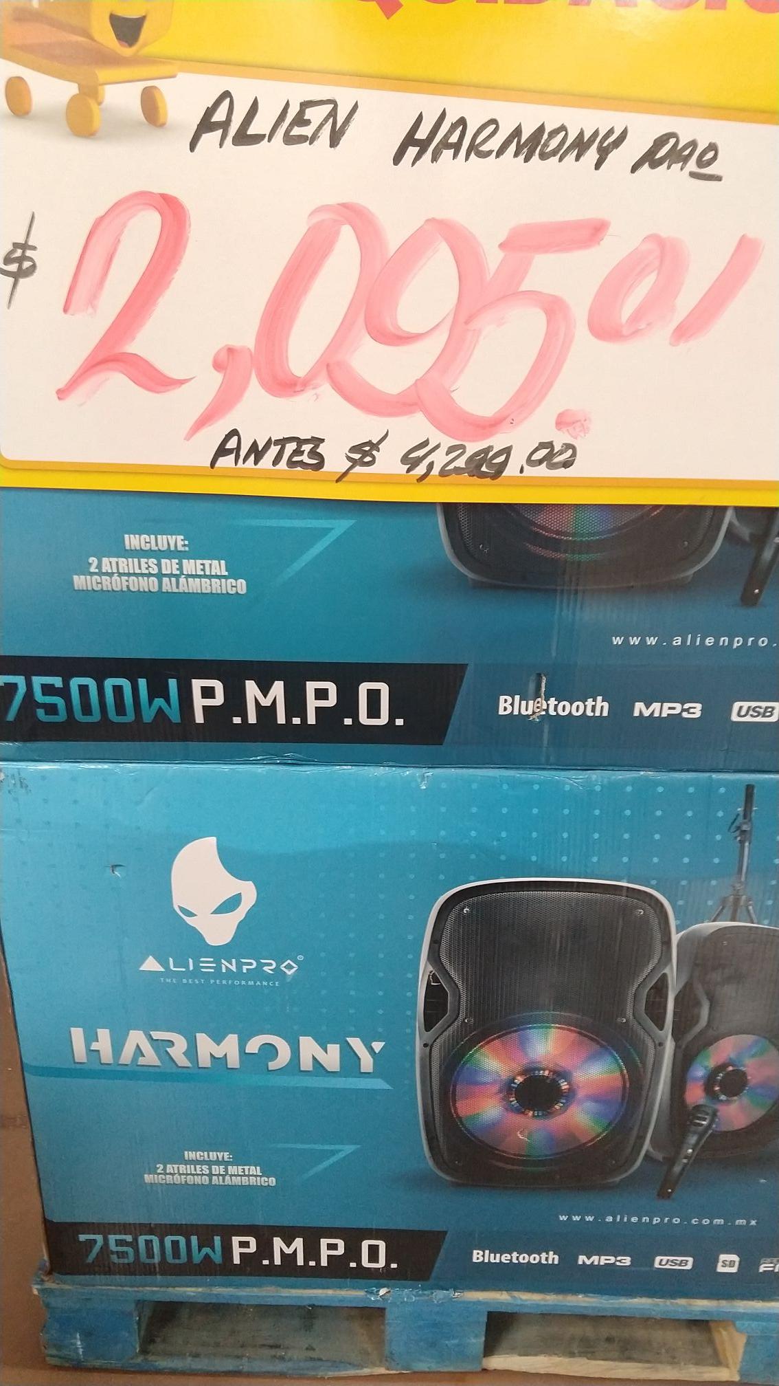 Walmart Puebla Los Pinos: Par de bocinas Alienpro 7500 PMPO