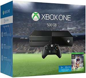 Amazon: Consola Xbox One 500 GB + FIFA Soccer 2016 - Bundle Edition