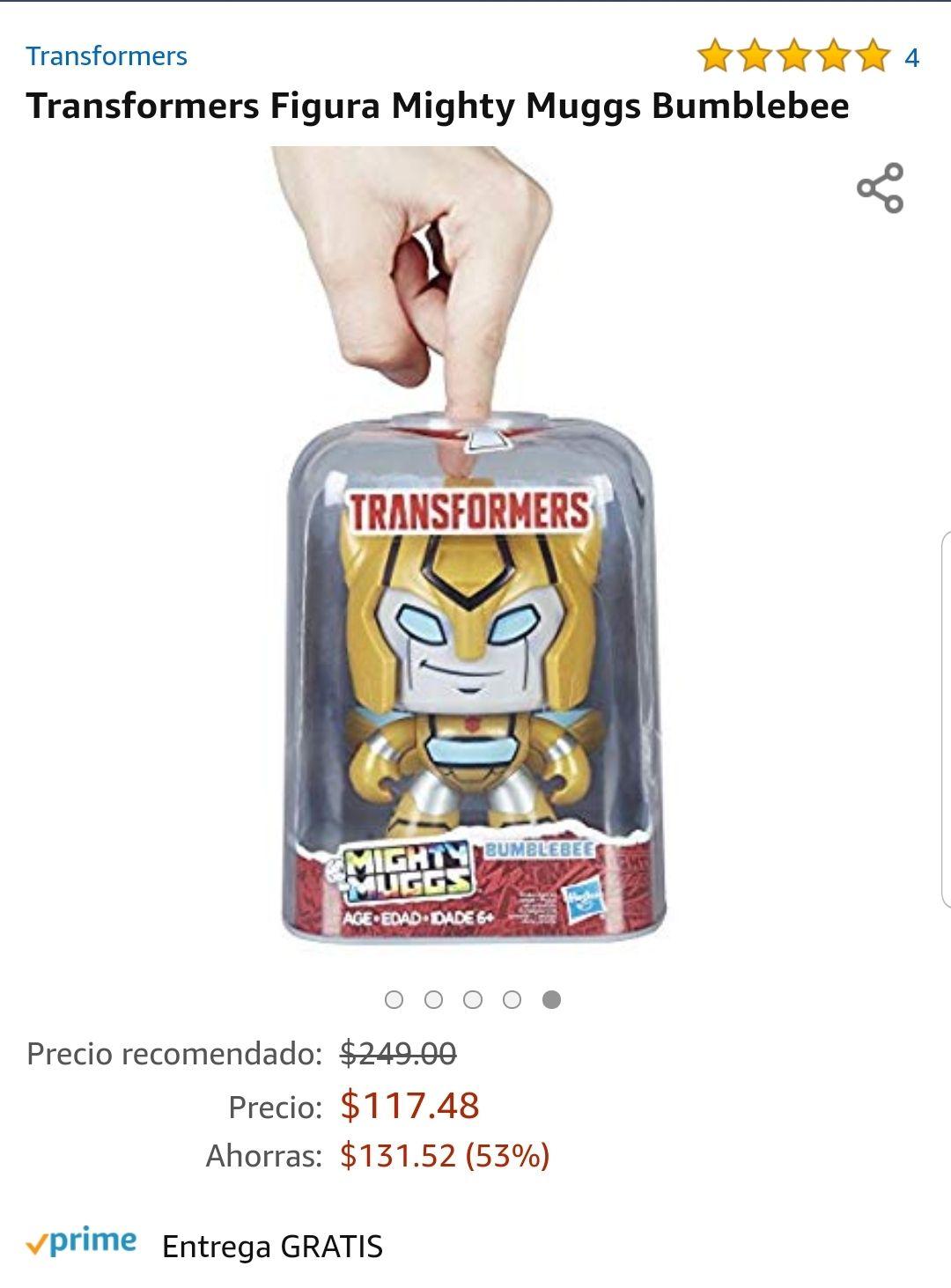 Amazon: Transformers Figura Mighty Muggs Bumblebee