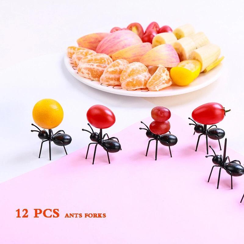 Aliexpress: 12 piezas de tenedores cóctel creativo en forma de hormiguitas