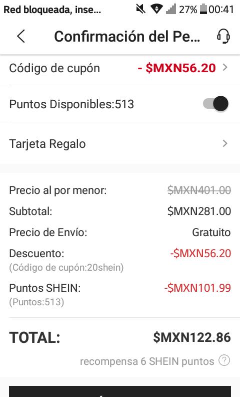 Shein: ENVIO GRATIS SIN MINIMO Y CUPON DE 20% DESCUENTO