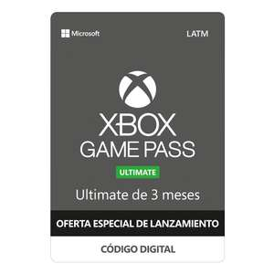 Walmart: Xbox Game Pass ULTIMATE 3 Meses código descargable