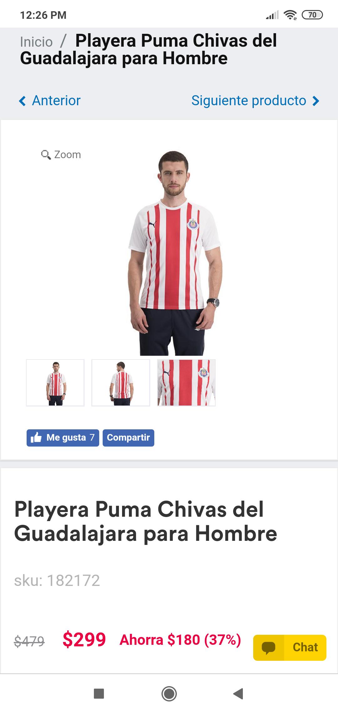Coppel en linea: Playera Puma Chivas del Guadalajara para Hombre