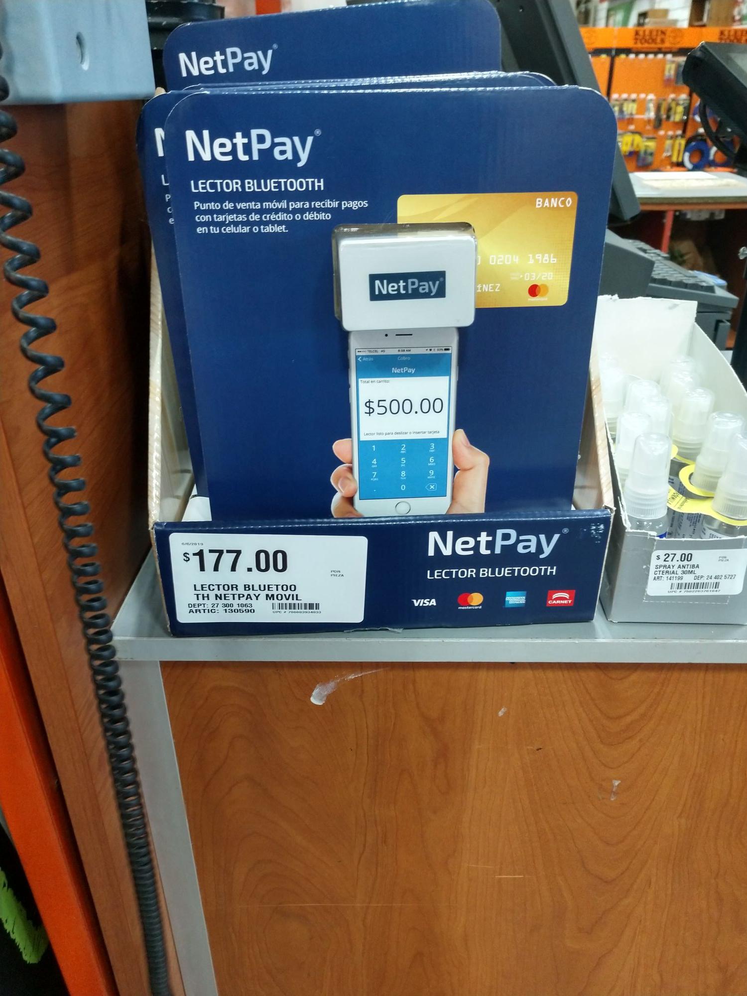 Home Depot Cumbres: NetPay punto de venta bluetooth