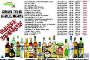Bodegas Alianza: Grey Goose $369, Don Julio $299, 3x2 en ron Appleton y más