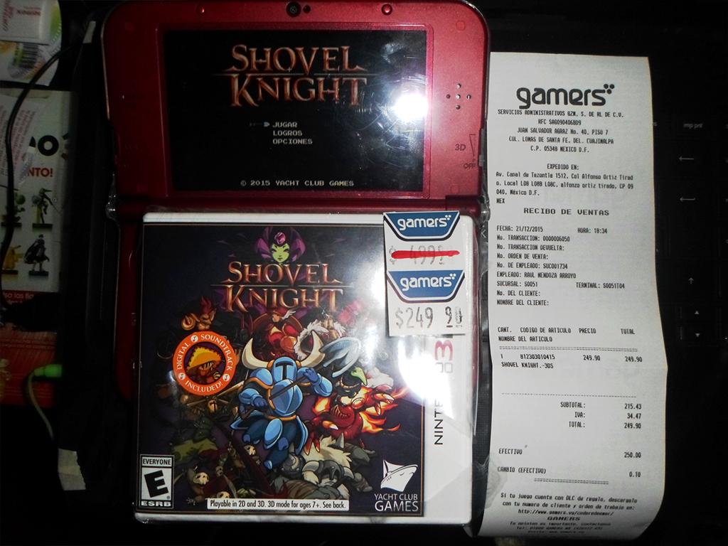 Gamers: Shovel Knight 3DS en $249