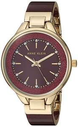 Amazon: Anne Klein - Reloj de pulsera para mujer con cristales de Swarovski