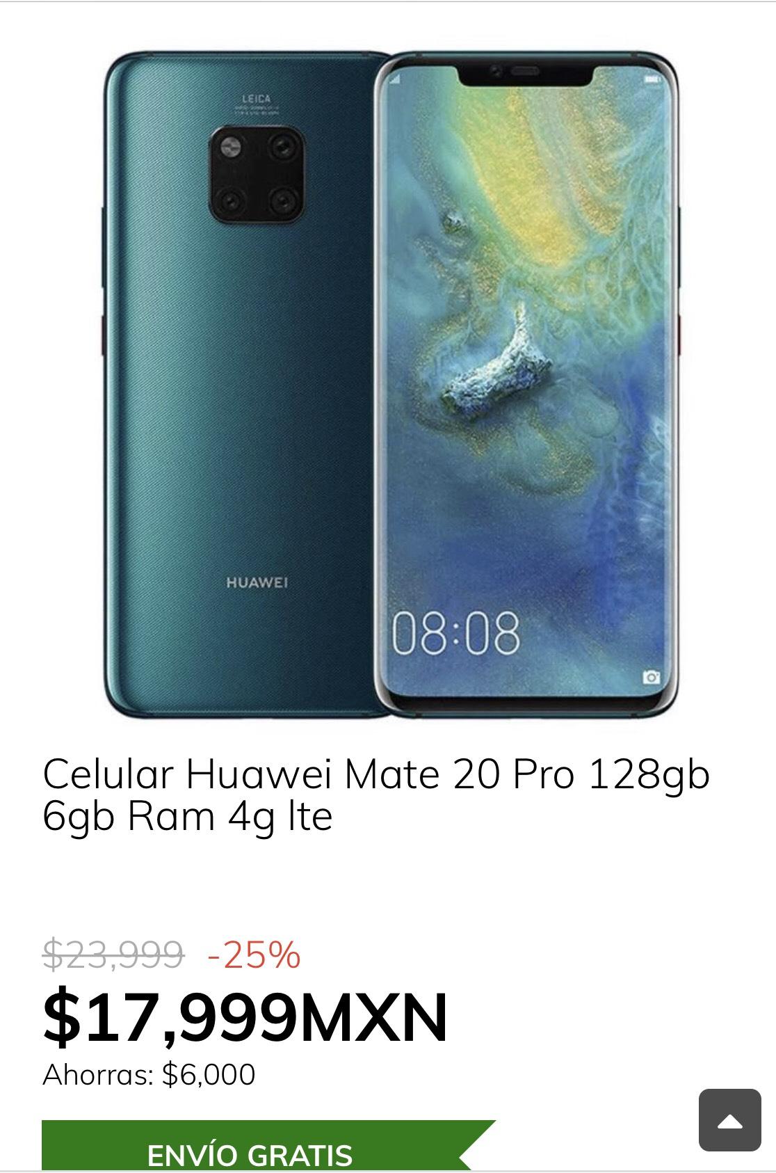 ClaroShop: Huawei Mate 20 Pro 6GB/128GB