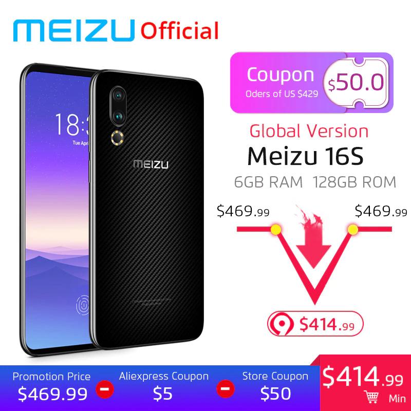 AliExpress:Meizu 16S 6GB/128GB Versión Global
