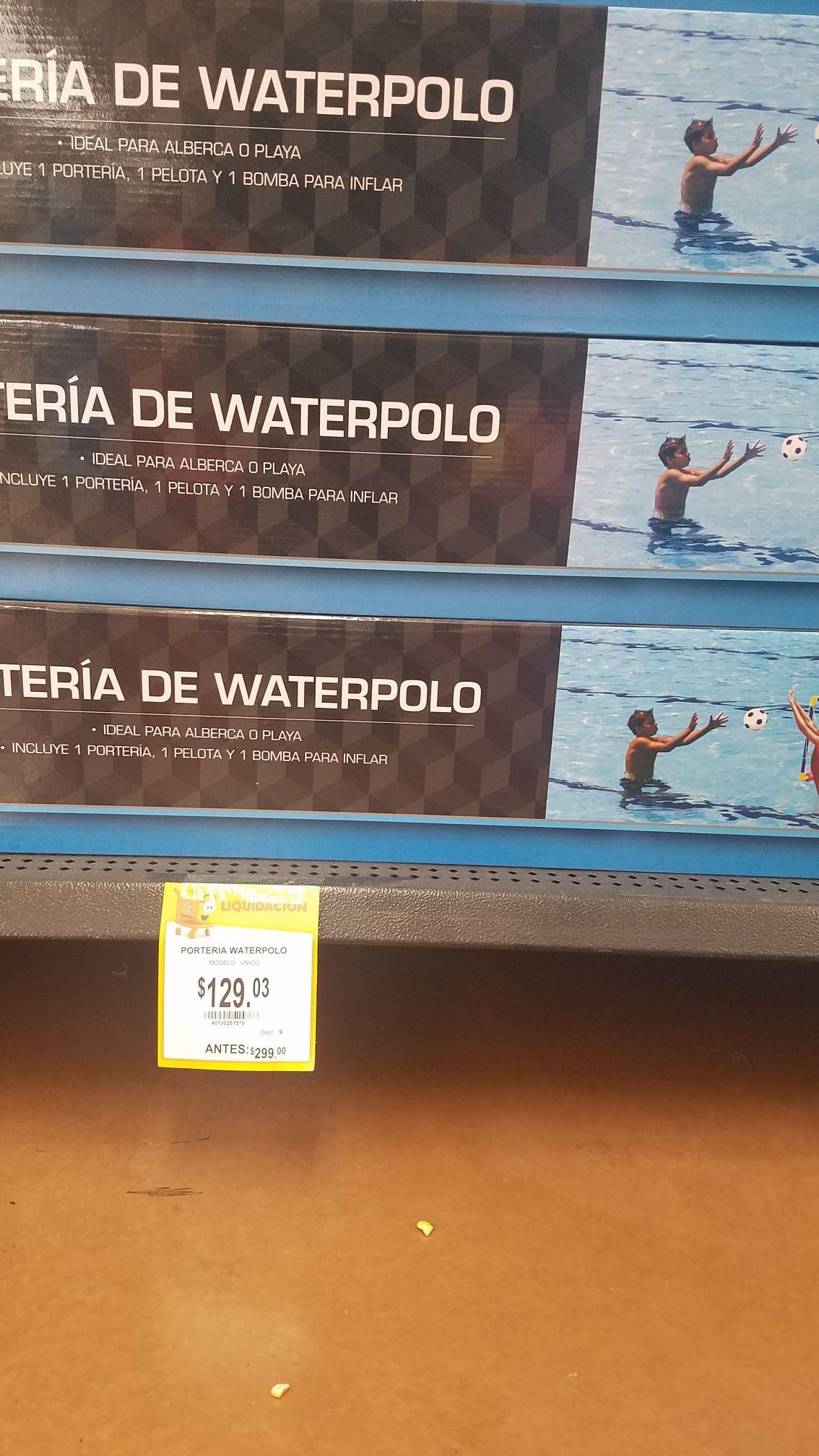 Walmart: Portería waterpolo 129.03. Lampara madera 99.02, pasta barilla 27.02,  reloj 165.02 y mas...