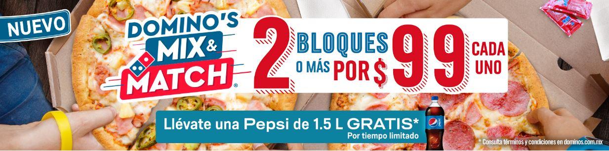 Domino's Pizza: Mix&Match y Pepsi de regalo (1.5 l)