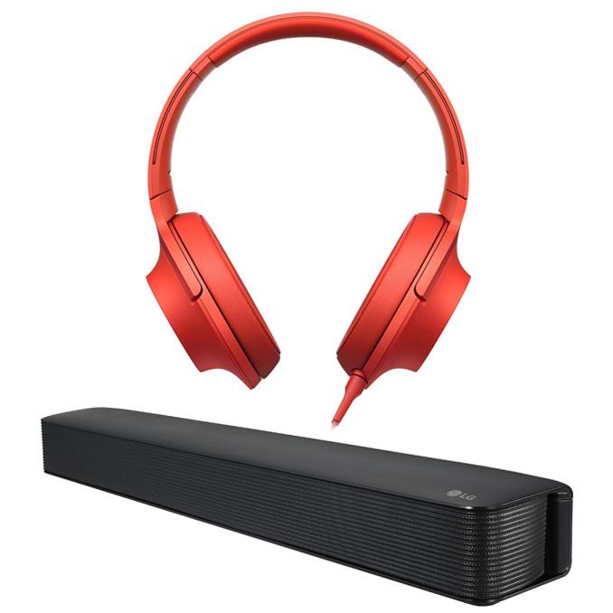 Chapur: Audífonos Sony Hi-Res MDR-100AAP a $799 y Barra de Sonido LG SK1 a $999
