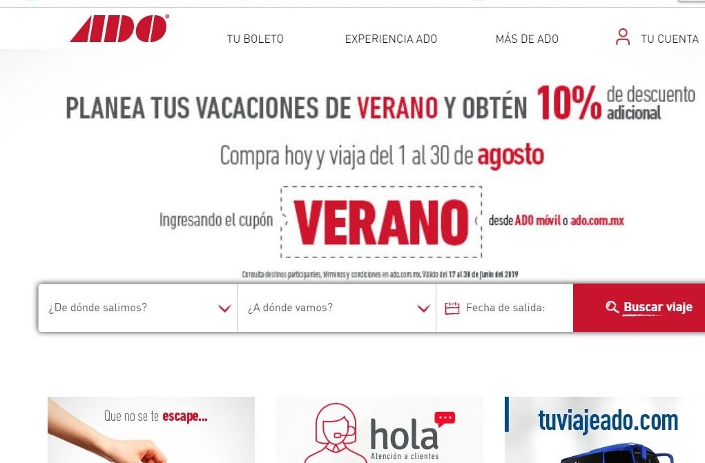 """ADO: cupon del 10% de descuento adicional para todos los viajes """"para visitar a la abuelita"""""""