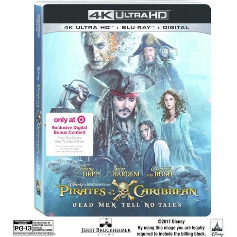 Target: $247 mxn Pirates Of The Caribbean: Dead Men Tell No Tales Target Exclusive BR 4K (Precio más envío)