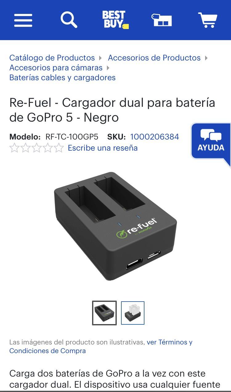 Best Buy Cargador GOPRO dual HERO 5 BLACK