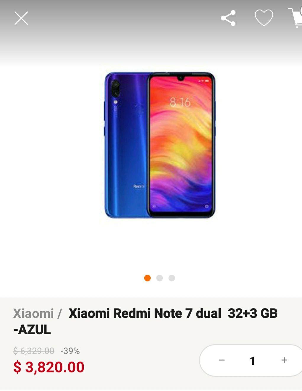 Linio: Xiaomi redmi note 7 de 32 GB, envío gratis