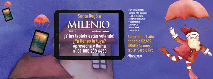 Tablet gratis al suscribirse por un año al diario Milenio
