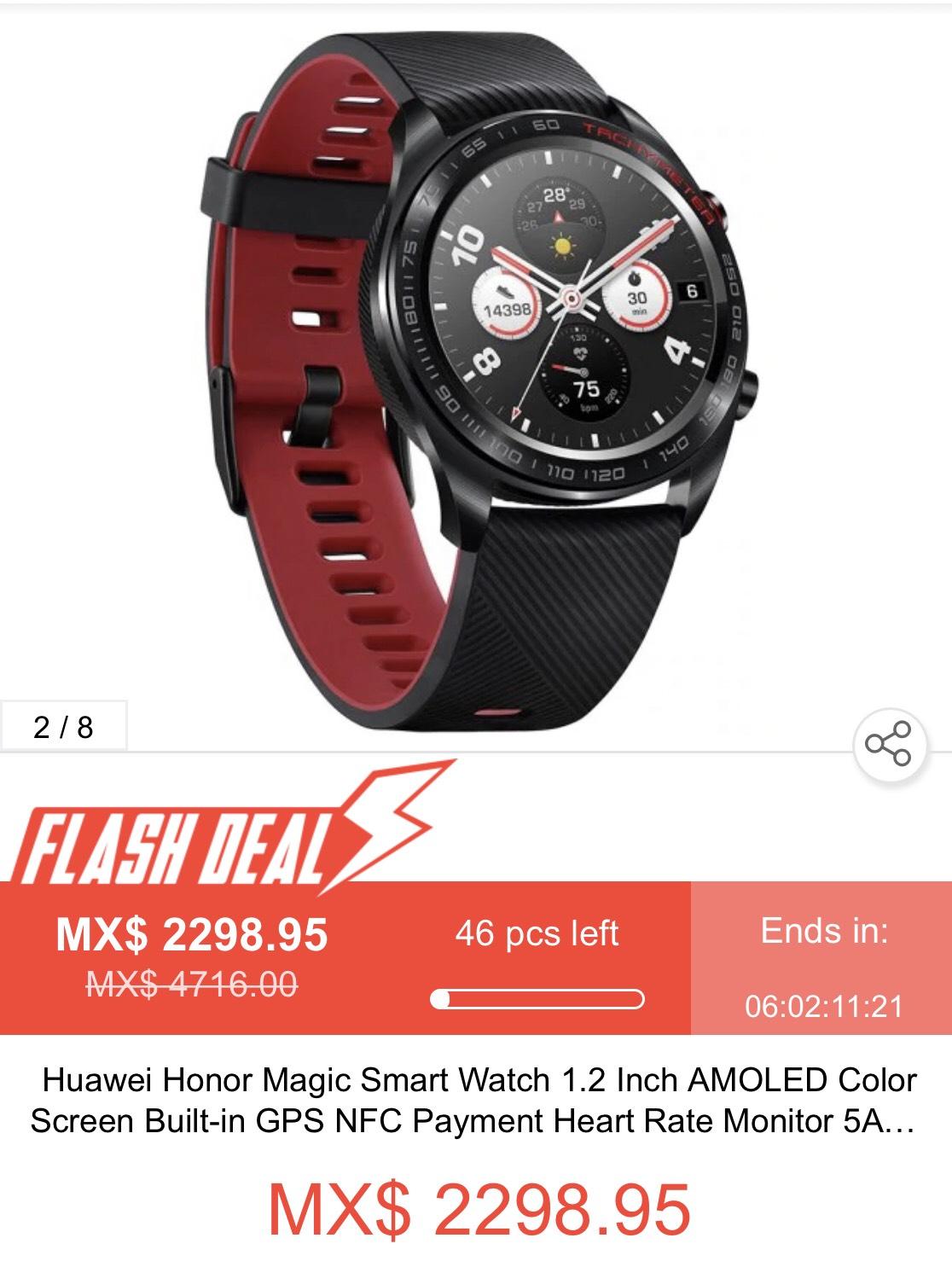 Geekbuying: Huawei Honor Magic Smart Watch 1.2 Inch AMOLED Color Screen