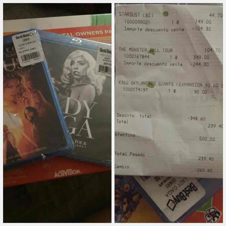 Promoción de películas en Best Buy. Ejemplo Stardust BR $44.70