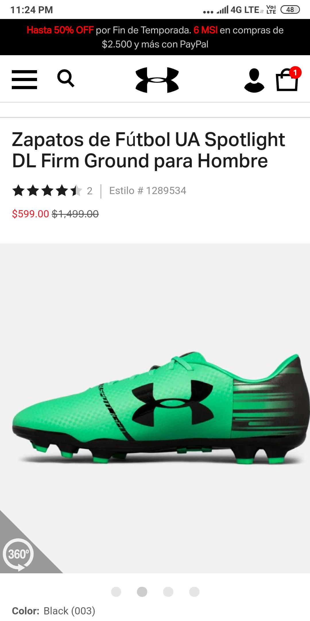 Under Armour: Zapatos de Fútbol UA Spotlight DL Firm Ground para Hombre